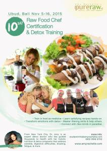 10 Day Raw Food Chef Certification & Detox Training, Bali, Nov. 5-16